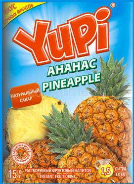 Растворимый напиток YUPI Ананас 15г