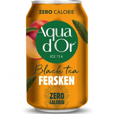 Aqua D'Or Black Tea Peach 330 мл