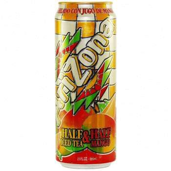 Напиток Arizona 1/2 Ice Tea Mango 0,68л