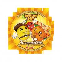 """Карамель леденцовая """"DARLIN DAY"""" Ассортисты со вкусом: лимона, апельсина, клубники, 90 гр."""