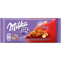 Milka Collage Raspberry Hazelnut and Chocolate drops (93 грамма)