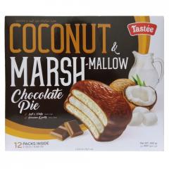 Пирожные в шоколадной глазури с кокосом Coconut and Marshmallow Choco Pie Tastee 300 г