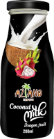 Кокосовое молоко Aziano с соком Питайя (Coconut milk dragonfruit juice) 280 мл