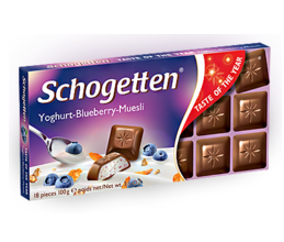 "Шоколад Schogetten Yoghurt-Blueberry-Cereal ""Йогурт-Черника-Злаки"" (100 грамм)"
