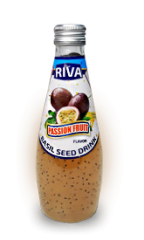 Basil seed drink Passion Fruit flavor Напиток Семена базилика с ароматом маракуйя 290 мл