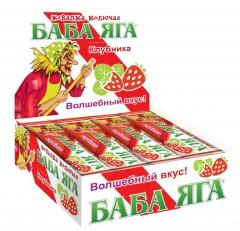Жевательная конфета Баба Яга Клубника 11гр