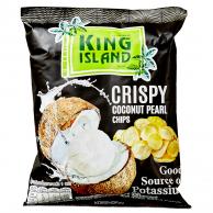 Кокосовые чипсы KING ISLAND из сердцевины пророщенного кокоса 40 гр