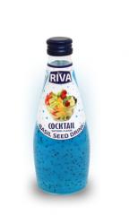 "Basil seed drink Cockail flavor ""Напиток Семена базилика с ароматом фруктового коктейля 290мл"
