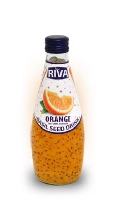 "Basil seed drink Orange flavor ""Напиток Семена базилика с ароматом апельсина"" 290мл"