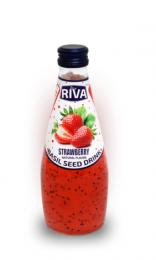 "Basil seed drink Strawberry flavor ""Напиток Семена базилика с ароматом клубники"" 290мл"