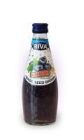 "Basil seed drink Blueberries flavor ""Напиток Семена базилика с ароматом черники"" 290мл"