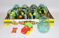 """Яйца с карамелью и игрушкой """"BULDOZER"""" (строительные машинки) 6гр"""