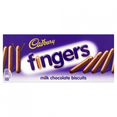 Cadbury Fingers Milk Chocolate Biscuits 114 гр