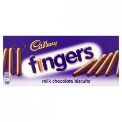 Cadbury Fingers Milk Chocolate Biscuits 114 гр