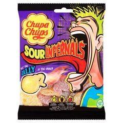 Жевательные кислые конфеты Chupa Chups sour infernals Jelly 90гр