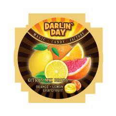 """Карамель леденцовая """"DARLIN DAY"""" CITRUS MIX  со вкусом: апельсина,лимона,грейпфрута 180гр"""