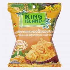 Кокосовые чипсы KING ISLAND с карамелью, 40 г