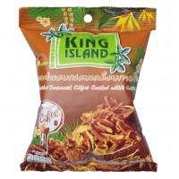 Кокосовые чипсы KING ISLAND в кофейной глазури, 40 г