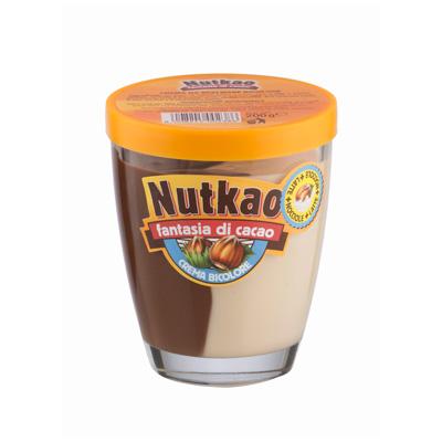 Шоколадная паста Nutkao Glass Domino Fantasia Cacao Duo (200 грамм)