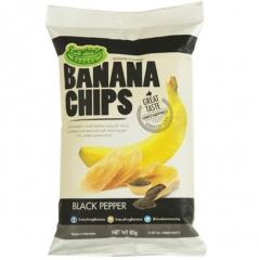 Банановые Чипсы Everything Banana с Черным перцем 80гр