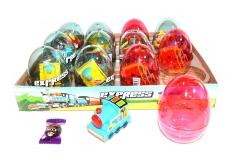 """Яйца с карамелью и игрушкой """"EXPRESS"""" (паровозики) 6гр"""