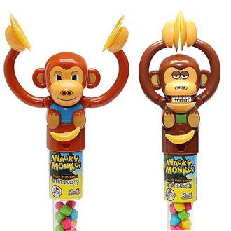 Wacky Monkey Леденцовая карамель с игрушкой 12гр