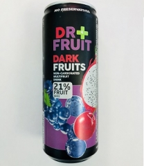 Напиток Dr+frut Dark Fruits Мультифрукт 0,330 ml