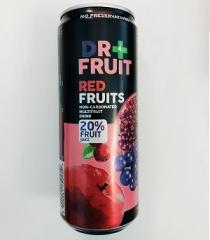Напиток Dr+frut Red Fruits Мультифрукт 0,330 ml
