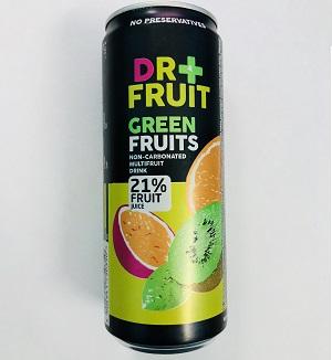 Напиток Dr+frut Green Fruits Мультифрукт 0,330 ml