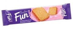 Печенье-сэндвич PARADISE FUN STRAWBERRY 70гр