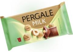 Молочный шоколад Pergale с цельным фундуком 100 гр