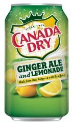 CANADA DRY GINGER ALE & LEMONADE 0,355 л