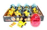 """Яйца с карамелью и игрушкой """"GREYDER"""" (строительные машинки) 6гр"""