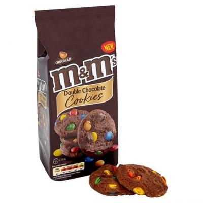 Печенье M&M's Double Chocolate Cookies (180 грамм)