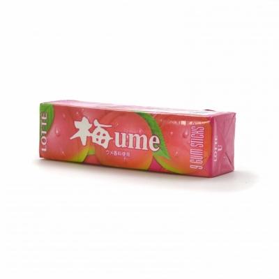 """LOTTE жев. резинка """"Умэ, со вкусом японской сливы"""" 31 гр"""