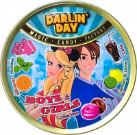 "Карамель леденцовая  ""DARLIN DAY"" Boys&Girls Collection со вкусом бабл гам,колы,ментола,апельсина,лимона и лайма (180 грамм)"