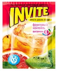 Растворимый напиток Invite Фруктовый коктейль 9г
