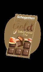 """Schogetten Salted Caramel Crisp """"с солёной карамелью"""" 100гр"""