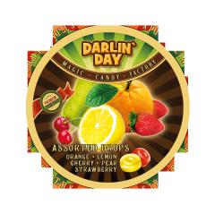 Карамель леденцовая DARLIN DAY ассорти со вкусом: лимона, апельсина, клубники, вишни, груши 180г