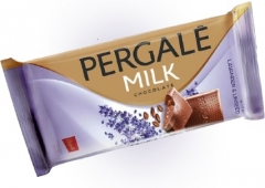 Молочный шоколад Pergale с лавандой и льняным семенем 100 гр