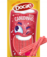 Docile SOUR STRAWBERRY BELTS 70 гр