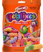 Docile GELATINES SOUR WORMS 80 гр