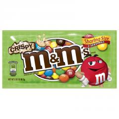 Шоколадное драже M&Ms Crispy (со вкусом печенья) 80 грамм