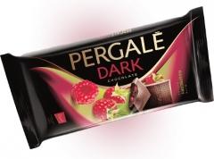 Темный шоколад Pergale с кусочками малины 93 гр