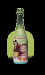 Детское шампанское Маша и Медведь Яблоко 750 мл