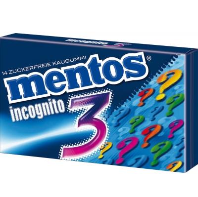 """Mentos """"3"""" Incognito 33g"""