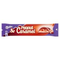 Шоколад Milka Peanut & Caramel 37гр (батончик)