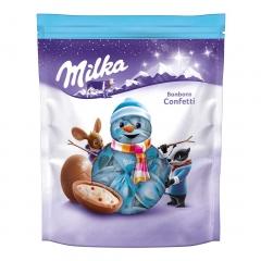 Новогодние конфеты Шоколадные шарики Bonbons Confetti Milka 86 гр