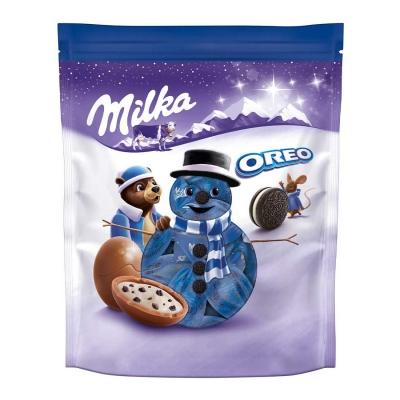 Новогодние конфеты Шоколадные шарики Bonbons Oreo Milka 86 гр