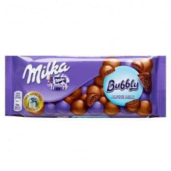 Шоколад Milka Bubble Alpine Milk (90 грамм)
